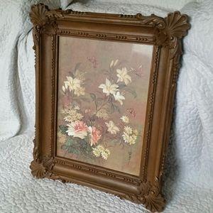 Vintage Framed Floral Print
